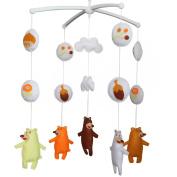 Musical Mobile, Baby Room Decor Gift, [Dancing Bears, Happy]