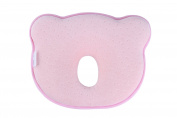 Original KOALA KIDZ Baby Newborn Pillow - Flat-Head Prevention - Memory Foam - Suitable for Infants (0-12 Months) - PINK