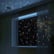 Stickers Luminous, ZTY66 Glow In The Dark 407PCS Round Dot PVC Mural Stickers for DIY Home Decor