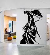 Wall Sticker Decals Geisha Beautiful Woman Japanese Girl Dress Umbrella Bedroom 1441b