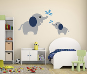 Elephant Family Wall Decal - Nursery Wall Decals - Elephant Nursery DecorVinyl Sticker