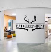 Wall Window Sticker Decal Deer Forest Elk Animal Horns Country Hunting Gun Hunter Boys Bedroom 1325b