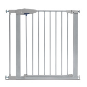 Munchkin Easy Close Metal Baby Gate, Silver