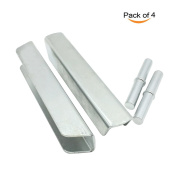 4Pcs Pressure Gate Extension Steel Core Bolts and Extended Interface Reinforcement Fitting Slots for Baby Gate, Pet Fence