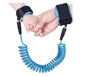 DK FENG Baby Child Anti Lost Wrist Link Safety Hook and loop Wrist Link, Safety Harness Strap Leash Walking Hand Belt-1.5M