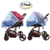 GUGER 2PCS Baby Mosquito Net ,Portable & Durable Insect Net,for Strollers,Car Seats cover ,Carriers