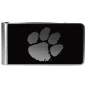 NCAA Clemson Tigers Black & Steel Money Clip