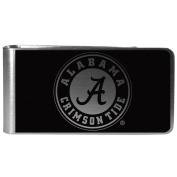 NCAA Alabama Crimson Tide Black & Steel Money Clip