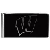 NCAA Wisconsin Badgers Black & Steel Money Clip