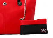 University Of Georgia Purse With Attached Wallet Georgia Bulldogs Handbag Tote