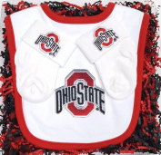 Ohio State Buckeye Baby Bib and Socks Gift Set