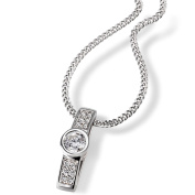 Goldmaid Women's 925 Sterling Silver Necklace with white Zirconia