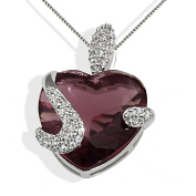 Goldmaid Women's 925 Sterling Silve Tourmaline coloured Stone Necklace