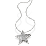 Goldmaid Women's 925 Sterling Silver Star Necklace with white Zirconia