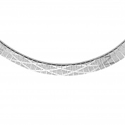 Tuscany Silver Sterling Silver Men's Cleopatra Style Diamond Pattern Necklace of Length 43cm
