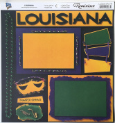 Louisiana Collage 30cm x 30cm Scrapbook Paper - 1 Sheet
