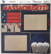 Massachusetts Collage 30cm x 30cm Scrapbook Paper - 1 Sheet