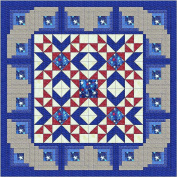 Quilt Kit Bars n Stars, Patriotic, Red White and Blue