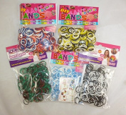 1800 Boys Loom Band Set - 6 Packs Of 300 Assorted Loom Bands (BLB1800) [Toy]