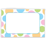 Pastel Dots Enclosure Cards or Gift Tags - 3-1/2 x 2-1/4 - 50 Pack