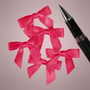 Mini Shocking Pink Satin Bows - 3.5cm . Wide