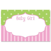 Baby Girl Framed Enclosure Card or Gift Tag - 3-1/2 x 2-1/4 - 50 Pack