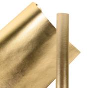 LaRibbons Premium Eco-friendly Wood Grain Basics Wrapping Paper Roll 80cm x 5m - 3.9sqm- Glossy Gold