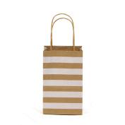 Premium Quality Natural Brown Kraft Bag, Birthday Party Gift Favour Bag Set, Biodegradable Paper