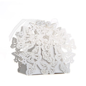 cici store 50Pcs Butterfly Candy Box Wedding Party Birthday Favour Gift Baby Shower Gift