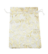 SUNGULF 100pcs Organza Pouch Bag Drawstring 15cm x 20cm Strong Gift Candy Bag Jewellery Party Wedding Favour