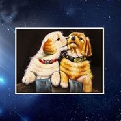 Fuming Two Dogs Diamond Embroidery 5D DIY Diamond Painting Cat Diamond Painting Cross Stitch Rhinestone Mosaic