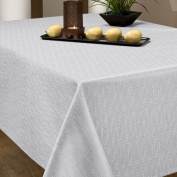 Benson Mills Pebbles Fabric Tablecloth, White, 150cm -by-210cm