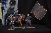 Britains 17223 Gettysburg Union Infantry Metal Toy Soldier Figure Command Set