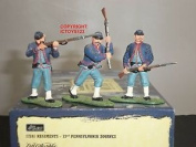 Britains 17241 72nd Pennsylvania Zouaves Metal Toy Soldier Figure Set