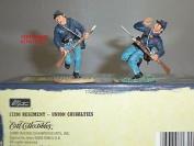 Britains 17290 Union Infantry Casualties Metal Toy Soldier Figure Set