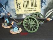 Britains 17394 Union Infantry Cannon Metal Toy Soldier Figure Set