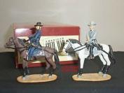 Britains 17545 General Lee + Grant Mounted Metal Toy Soldier Figure Set