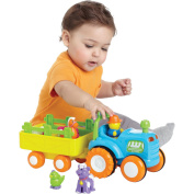 Bruin Farm Tractor & Trailer, Infant Baby Musical Activity Toy Playset