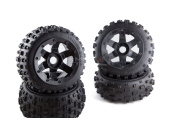 Madmax Bow Tie Tyres On 6 Spoke For Km & Hpi Baja 1/5th Rc