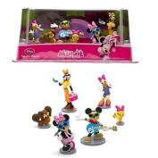 New Official Disney Minnie Mouse Rockstar 6 Figurine Playset