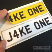 Personalised Children's Number Plates For Kids Ride On Car Or Jeep