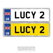 Personalised Children's Number Plates For Kids Ride On Car