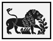 Russian Folk Art Animal Lion by Issachar Ber Ryback's Counted Cross Stitch Pattern