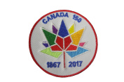 CANADA 150 Years Anniversary 1867 - 2017 6.4cm Inch Round Embroidered Iron on Patch Crest Badge... New