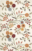Rizzy Home DI1466 Dimensions Hand-Tufted Area Rug, 2.4m by 3m, Floral, White