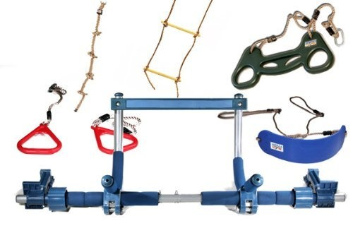 Gorilla Gym Kids With Indoor Swing Trapeze Bar Climbing Ladder And Swinging  Rope