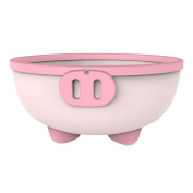 KIDSMILE Multi-Purpose Baby Plastic Wash Basin, Thickened Anti-Skid High Capacity Cartoon Baby Washing Basin, Lovely Piggy, Pink