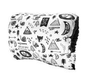 The Nursie Slip-on Arm Nursing Pillow | Breastfeeding Pillow | Perfect Babyshower Gift | Adventure w/ Black Minky.