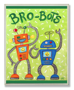The Kids Room by Stupell Bro-Bots Rectangle Wall Plaque