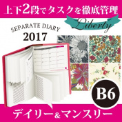 Begin schedule book liberty pattern April, 2017; is system notebook on one page of /1 day-type for notebook separate diary month